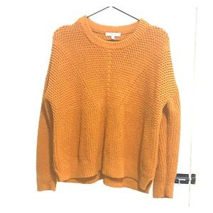 Madewell orange/golden sweater